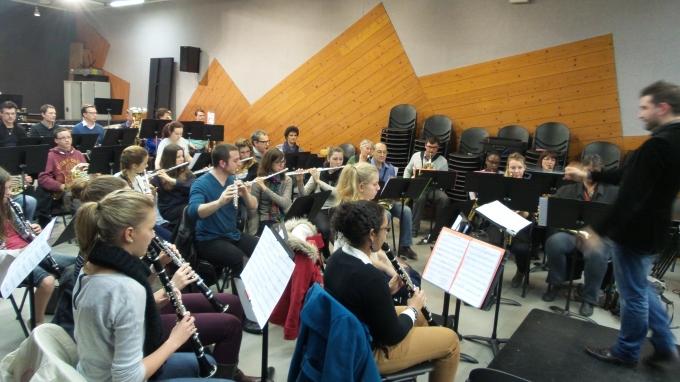 Répétition de l'orchestre d'harmonie le vendredi